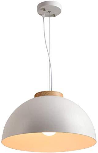 Mooie Home Decoratie Lampen Vintage Industriële Hanger Lamp Wit Metaal Scherm Dome Ontwerp Opknoping Lamp Hout E27 Verstelbare Woonkamer Eettafel Studie Kamer Kantoor Slaapkamer Studie Designerlamp &P