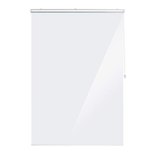 Relaxdays Duschrollo, 140x240 cm, Seilzugrollo für Dusche & Badewanne, wasserabweisend, Decke Spritzschutz, durchsichtig