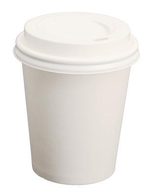 100 Pappbecher für 0,2l 8oz mit Deckel Kaffeebecher Coffee to go mit Deckel Kakaobecher