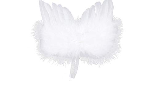 10Pcs Angel Wing White Feather Lovely Chic Angel Christmas Tree Decoration Hanging Ornament for Party Wedding Wedding Decorations