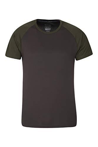 Mountain Warehouse Camiseta para Hombres Endurance - Transpirable, de protección Solar UPF30, Camiseta Ligera y cómoda, Cuidado fácil Caqui XS