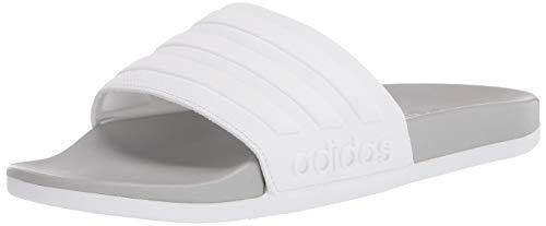 adidas Zapatos de agua Adilette Comfort para hombre, blanco (blanco/blanco/gris), 40 EU