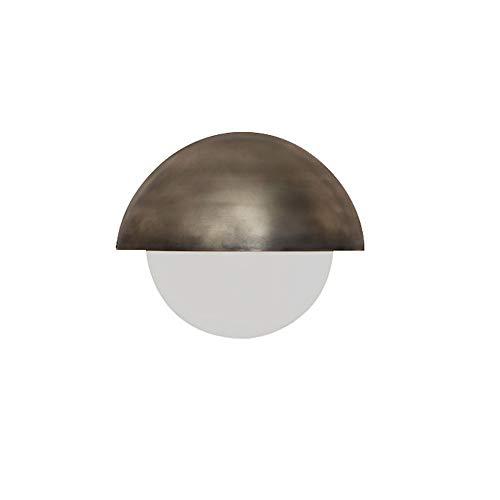 Postmoderne Eenvoudige Wandlamp, Gouden Metalen Lampbehuizing, Witte Glazen Lampenkap, Geschikt Voor Decoratie Thuis, Kantoor En Hotelgang 33cm X 28 Cm (G4 * 1)