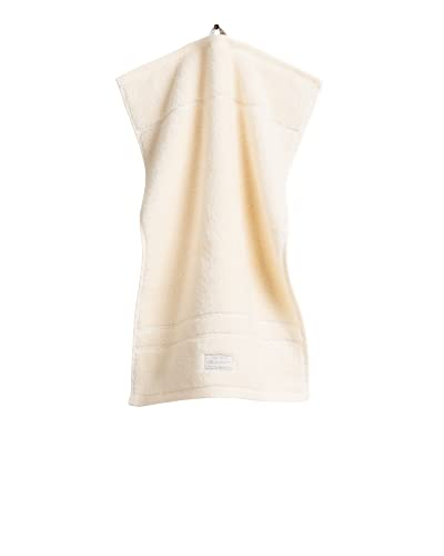 GANT Toalla Organic Premium de color Eggshell, tamaño 50 x 100 cm