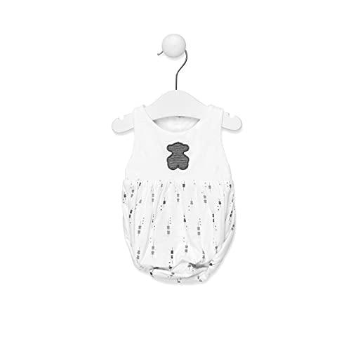 TOUS BABY - Ranita Sin Mangas para tu Bebé. Estampado Luminary (Blanco, 3 Meses)