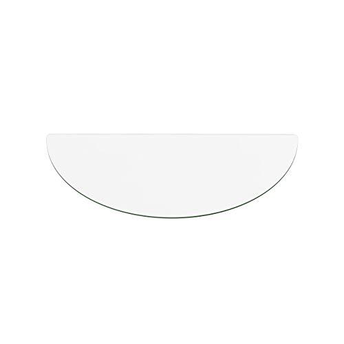 Temprix Funkenschutzplatte & Bodenplatte Glas ECO O3 | Für Kamin & Ofen geeignet | Kaminbodenplatte Glas mit C-Schliff | 400 x 800 mm | Sondermaße & Anfertigung auf Anfrage