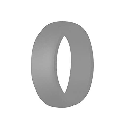 XDY 8.7mm Anillo de Silicona Curvada para Hombre para Hombre Anillo DE Silicona DE Silicona Anillo Unisex Accesorios DE Accesorios DE CUERTOS,Light Gray,9#18.9mm