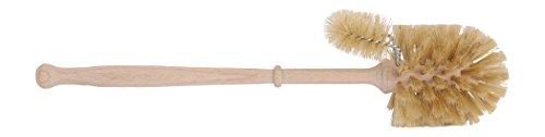 Klobürste mit WC Rand Kosmetex mit Stiel, 36cm Klobesen, Holz WC-Bürste Toilettenbürste, Typ 7