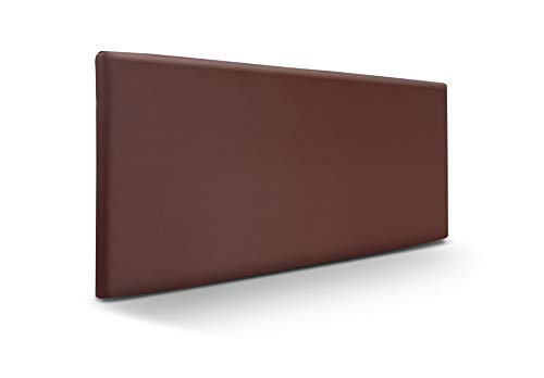 SUENOSZZZ-ESPECIALISTAS DEL DESCANSO Cabecero de Cama Liso tapizado en Polipiel para Camas de 90 (100 x 57 cm) Polipiel Chocolate