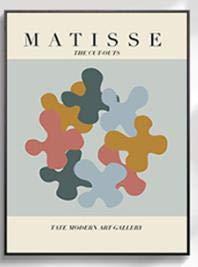 Carteles de arte abstracto de Matisse, pinturas abstractas de líneas de plantas, murales de sala de estar, pinturas de lienzo sin marco para el hogar C 50x70cm