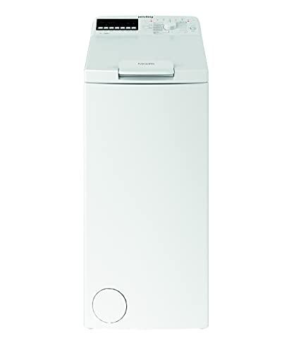 Privileg PWT E71253P N (DE) Toplader Waschmaschine / 7 kg / 1152 UpM/Soft-Opening/Kurz 45'/Startzeitvorwahl/Wolle-Programm/Wasserschutz/Bügelleicht-Option/Kindersicherung Weiß