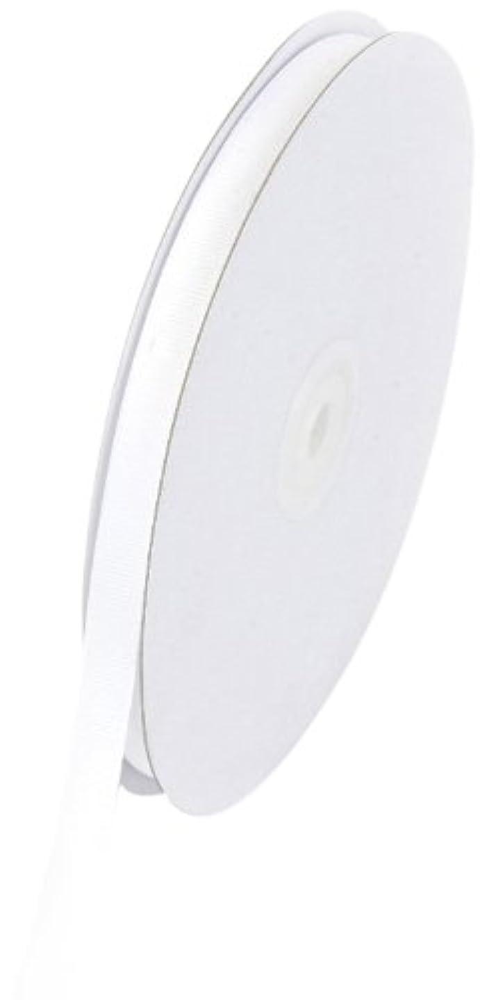 Creative Ideas Solid 3/8-Inch Grosgrain Ribbon, 50-Yard, White