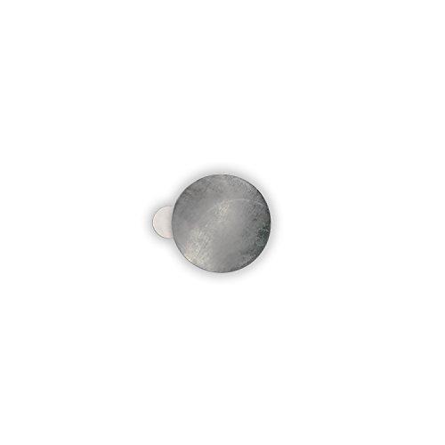 HouseholdBasics 25 x Selbstklebende Metallplättchen (verzinkter Stahl, Ø 16 mm, Höhe 0,3 mm)
