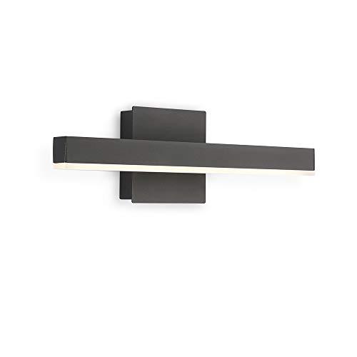 Joossnwell LED Bathroom Vanity Lighting Fixture Modern Bath Light Bar 15.75inch Black Wall Sconce 9W 4000K