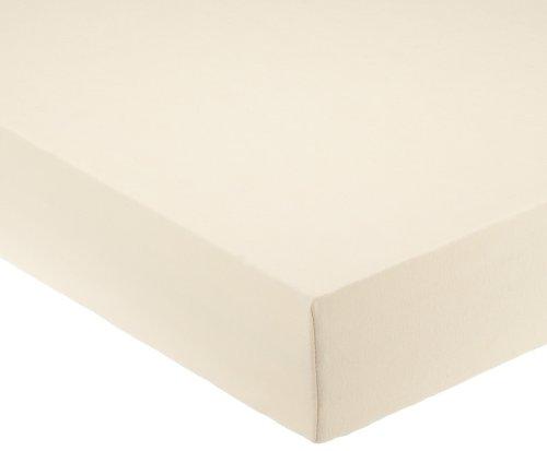Pinolino 540002-6 - Spannbetttuch für Kinderbetten, Jersey, natur
