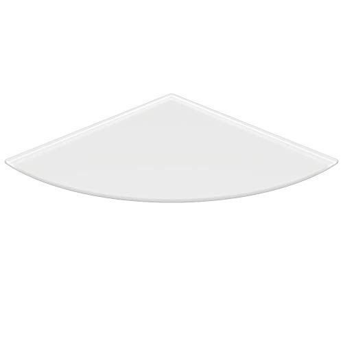 Milchglas *Frosty* Viertelkreis 110x110cm Glasbodenplatte Funkenschutzplatte Kaminplatte Glas Ofen Platte Bodenplatte Kaminofenplatte Unterlage (*Frosty* Viertelkreis 110x110cm mit Dichtung)