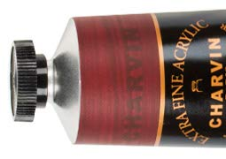 Charvin Extra Fine Professional Artist Acrylic Paint Colors, Nature Themed Hues, 60ml Burgundy