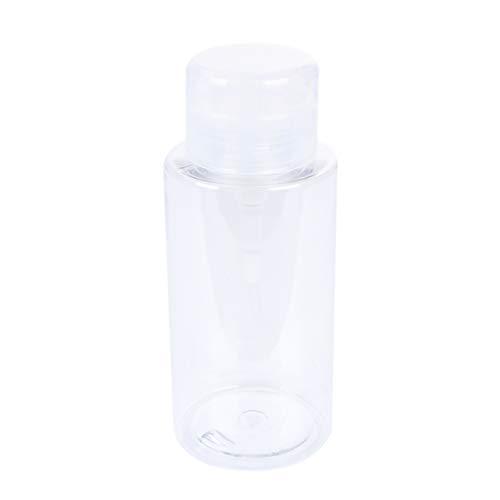 Artibetter 300Ml Heldere Lege Pomp Dispenser Reinigingsfles Push-Up Manicure Nagellak Remover Alcohol Fles Heldere Cosmetische Lotion Container Reisbenodigdheden