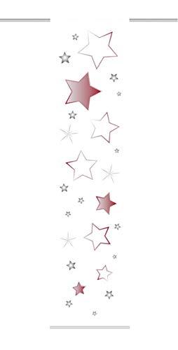 Home Fashion Stars Schiebevorhang, Stoff, rot, 245 x 60 x 0,1 cm