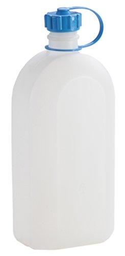 hünersdorff Kunststoffflasche / Trinkflasche / Vorratsflasche mit dichtem Schraubdeckel, Chemie- und Lebensmittelbeständig, 2 Liter, Made in Germany