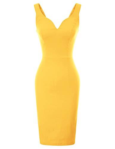 GRACE KARIN Rockabilly Kleider sexy cocktailkleider elegant Retro Kleider CL987-8 S