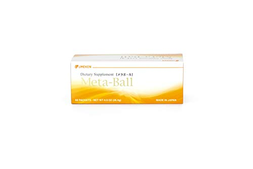 Umeken Meta Ball Contains Gymnema Sylvestre, Oligopeptide, and Other Herbs, Made in Japan (60 Packets per Box - 1 Box)
