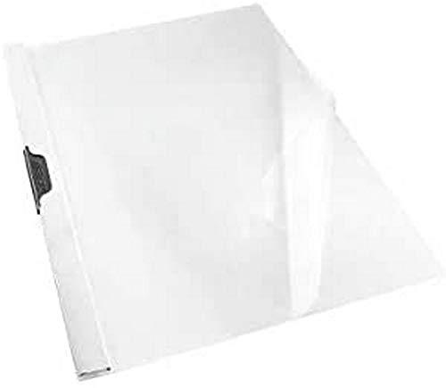 Esselte Dosier Clip File, Capacidad para 30 hojas A4, Plástico flexible, Blanco, VIVIDA, 563770