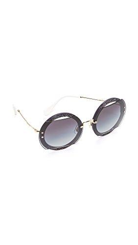 Miu Miu Damen 0Mu06Ss Vyu5D1 63 Sonnenbrille, Violett (Dark Violet/Gradient)