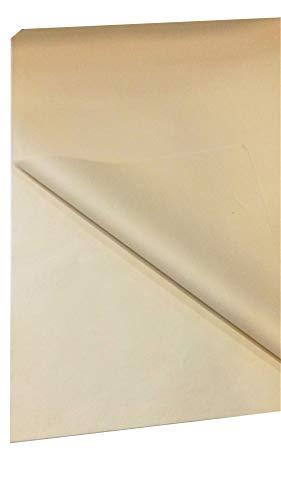 kgpack Seidenpapier 20 Blatt - Basteln Gestalten Dekorieren Tissue Papier zum Pompons Papierblumen Skizzen und Zuschnitt-Papier dünnes Papier Geschenkpapier 50 x 70 cm 17 g/qm, 20 Blatt (Beige)