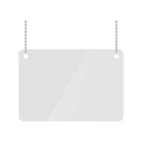 INTLPHARMACY Mampara de Protección, Metacrilato Transparente 2mm, Mampara Colgante Transparente (100 X 80 cm)