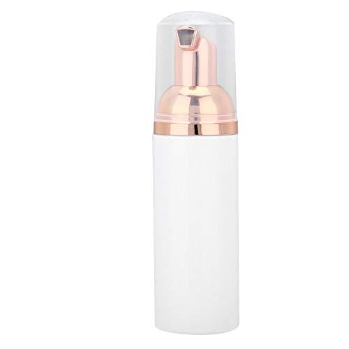Nettoyant Extension de Cils, Nettoyant Moussant Professionnel pour Shampooing Cils 60/ml pour Enlever les Résidus de Maquillage et le Mascara, Outil Shampooin(01# bouteille blanche)