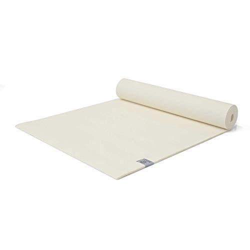 Love Generation Yoga Esterilla de 6 mm extra acolchada, resistente y fácil de limpiar, 183 x 61 x 6 mm, para yoga, pilates y fitness (blanco crema).