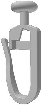 Gardineum 100 Stück Gardinengleiter/Faltenlegehaken (406-7) 7 mm Gleiter Gardinenzubehör