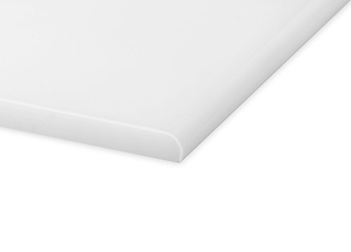 A+H Rammschutz Kantenschutz, Wandschutz aus Hochwertigem PE Kunststoff gegen Beschädigungen durch Schrammen und Dellen, verschiedene Größen, 1000 x 192 x 10 mm, Farbe Natur (Weiß)