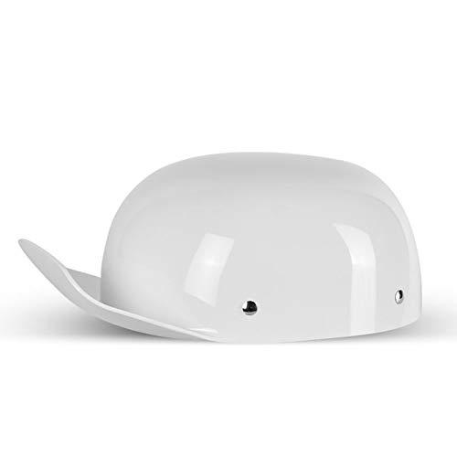 Casco de cara abierta, casco retro de media carcasa de motocicleta Gorra de béisbol aprobada por DOT/ECE Casco Cruiser Chopper Moped Scooter Casco de media cara xue D,XL58~62cm)
