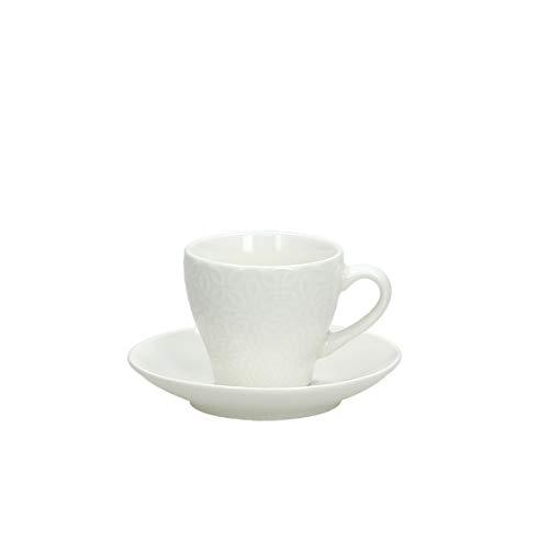 Tognana Set 6 tazzine caffè Margaret, Porcellana, Bianco
