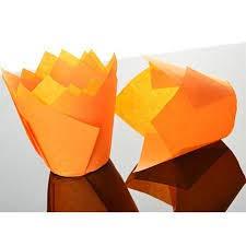 Bakery Direct Lot de 200 moules à muffins en forme de tulipe Orange