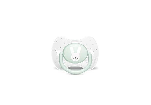Suavinex 306598 Succhietto con Tettina Simmetrica in Silicone, Da 0 a 6 mesi, Hygge Colore Verde - 30 g