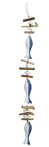 Treibholzgirlande Fisch maritim 100 cm Girlande Aufhänger Holzgirlande
