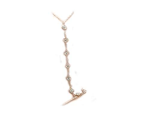 Diamond pulsera pulsera, anillo, pulsera, Tiny Diamantes Pulsera Cadena de mano, Boho Sexy.