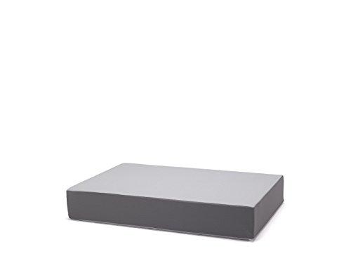 traturio Hüpfmatratze für alle kleinen und großen Hüpfer 130x90x25cm (hellgrau/grau genoppt)