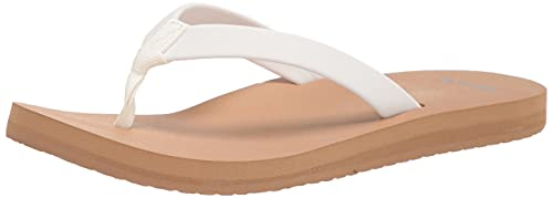 Sanuk Ashland Soft Top White/Tan 7 B