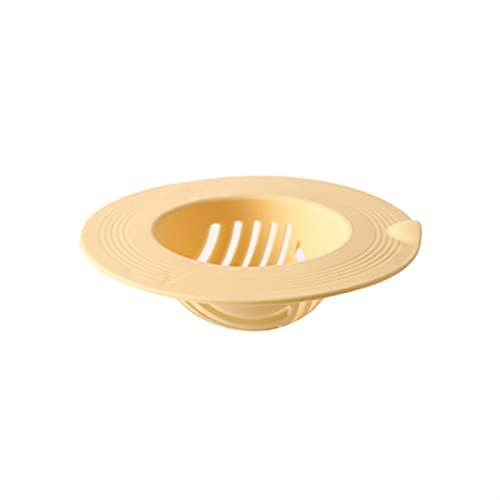 Filtro de Fregadero Baño Drenaje de Filtro de Filtro de Agua Tapón de Agua Piso Bañera de Pelo Enchufe Accesorios de Cocina Herramienta de Filtro (Color : Yellow)