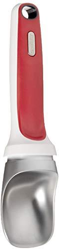 ZYLISS Right Scoop - Balanced Metal Ice Cream Scoop Set - Ergonomic Handle - Red