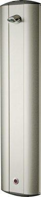 Franke Duschpaneel aus Edelstahl mit elektronischer Zeitsteuerung mit Magnetventil, Variante:Ohne winkelverstellbaren Duschkopf