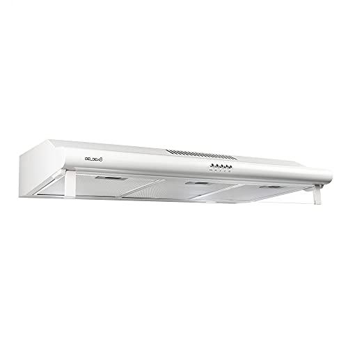 BELDEKO Hotte Casquette 90 cm - BLANCHE - débit d'air 420 m3/h
