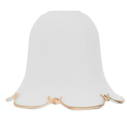 Ersatz Lampenschirm Ersatzglas Lampenglas Glasschirm für Pendelleuchte Wandleuchte E27 Lampenfassung - Leichte goldene Felge