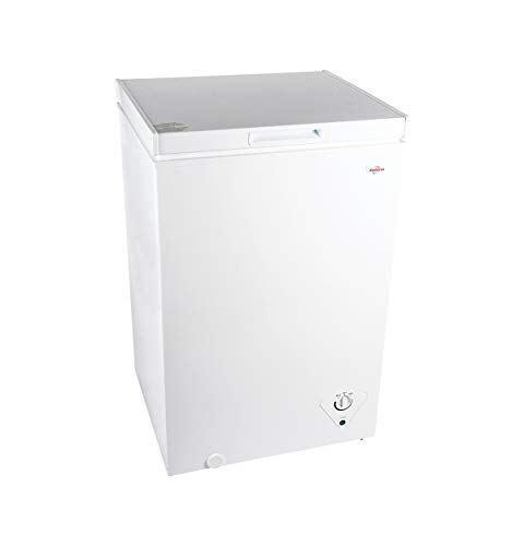 Koolatron KTCF99 3.5 Cubic Foot (99 Liters) Chest Freezer with Adjustable Thermostat