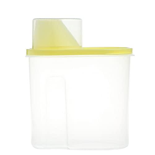 WGGTX Contenedores de Almacenamiento de ahorradores de a Dispensador de Almacenamiento de Alimentos de Cereal de Cereales de Cereal Secado Caja sellada de contenedor de arroz 1.9L (Color : Yellow)