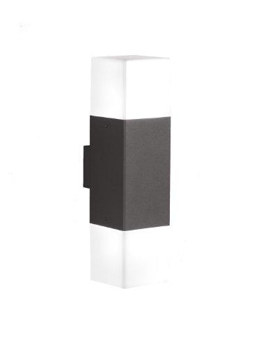 Trio Leuchten LED Außen-Wandleuchte, Aluminiumguss, inklusiv 2 x E14, 4 W, Höhe 33 cm, anthrazit 220060242